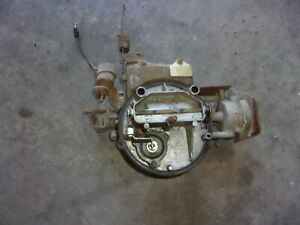 Autolite Two Barrel Carburetor D1bf Aa With 1 Inch Spacer 1971 Ford Bronco