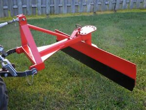 Compact Tractor Grader Blade 5 Foot 3 Point Category One Fits Kubota And Others