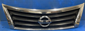 2013 2015 Nissan Altima Sedan Front Grille Chrome Grill
