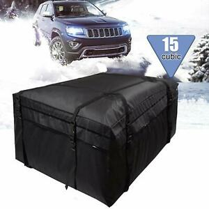 Roof Top Cargo Rack Weatherproof Luggage Car Van Suv Travel Bag Carrier Rack
