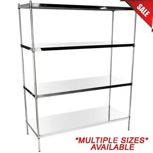 any Size Heavy Duty Stainless Steel Wire Shelf Rack Commercial Shelving Nsf