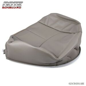 For Chevy Silverado 1500 2500 2003 2007 Driver Bottom Leather Seat Cover Beige