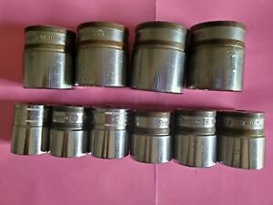 Set Of 10 Snap On 1 2 Drive 12pt Metric Short Sockets 22mm To 32mm