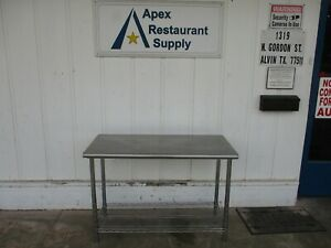 Stainless Table With Wire Rack Bottom 50x24x35 5166