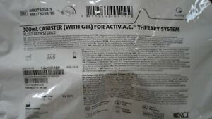 Kci M8275058 Canister W Gel For Activ a c Therapy System 300ml Sterile 9 Pc