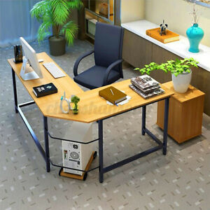 L shaped Corner Computer Desk Home Office Study Gaming Laptop Workstation Table