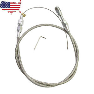 Ls1 Chevy 36 Stainless Steel Braided Throttle Cable 4 8 5 3 5 7 6 0 Engine Ls