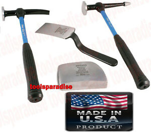 Auto Body Fender Panel Beater Sheet Metal Forming Dolly Block Hammer Spoon Tool