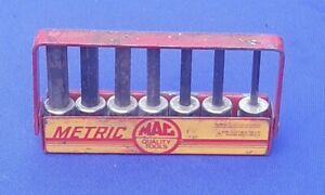 Mac Tools 3 8 Drive Metric Hex Driver Set Vtg 4mm To 10mm With Original Stand