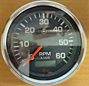 Tachometer Hour Meter Electric 0 6000 Rpm 12 24 Volt 85mm For Trucks Boats New