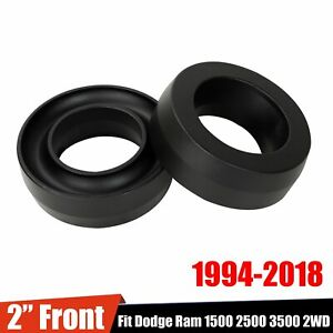 2 Front Lift Leveling Kit For 1994 2018 94 18 Dodge Ram 1500 2500 3500 Only 2wd