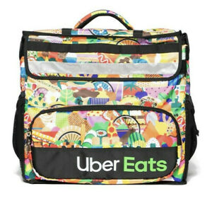 New Uber Eats Delivery Insulated Backpack Limited Edition Artist Bag Melanie