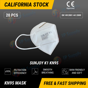 20pcs Disposable Kn95 4 Layers Face Masks N95 Anti Dust Respirator Protection