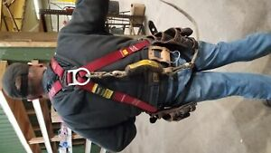 Guardian Climbing And Ladder Safety Harness With Tool Pouches