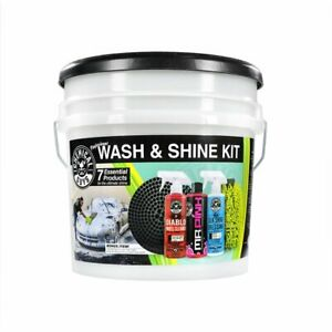 Professional Car Wash And Shine 7 Piece Kit Detailing Car Supplies Cleaning Kit