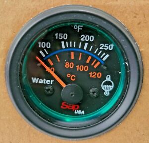 Electric Water Temperature 2 52mm Round Gauge 100 250 Degree 12v Saph6041 New