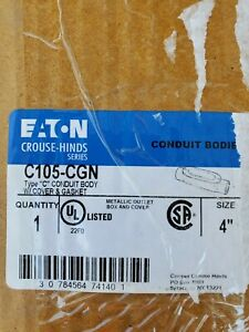 Eaton Crouse Hinds c105 Cgn 4 Conduit Body With Cover new