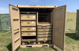 Military Grade Storage Container With Drawers And Shelf