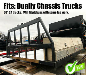 Used 9 Flatbed Fits 60 Ca Chassis Trucks Aluminum Tool Boxes Fence Tb281