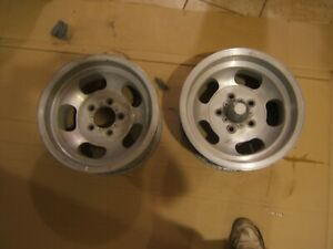 Vintage Aluminum 5 Slot 14 X 7 Shelby 4 3 4 In Bolt Pattern Gm