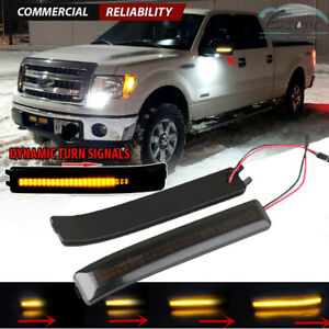 Sequential Led Side Mirror Turn Signal Lights For Ford F 150 F150 Raptor 09 14