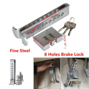 8 Hole Brake Pedal Lock Security Car Suv Stainless Steel Clutch Lock Anti theft