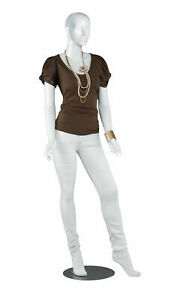 Female Glossy White Cameo Fiberglass Mannequin Height 5 10 With Base
