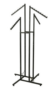 4 way Clothing Rack With Slanted Arms Boutique Vintage Finish