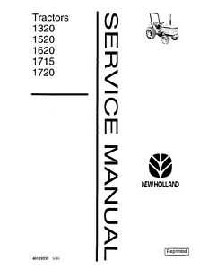 New Holland Ford 1320 1520 1620 1715 1720 Tractor Service Manual