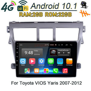 32gb Android 10 1 4g Car Dvd Player Radio Gps Navi For Toyota Vios Yaris 2007 12