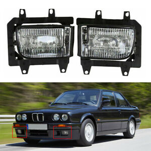 1 Pair Front Bumper Fog Lights Lamp Housings Clear Lens Fits Bmw E30 1982 1987