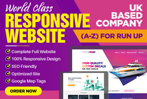 Website Design Professional 5 Pages Responsive High Quality