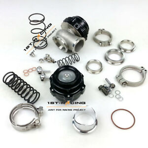 50mm Bov 44mm Wastegate Turbo Blow Off Valve Bov And Waste Gate Black