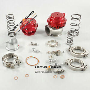 50mm Bov 44mm External Wastegate Combo Turbo Blow Off Valve And Wastegate Red