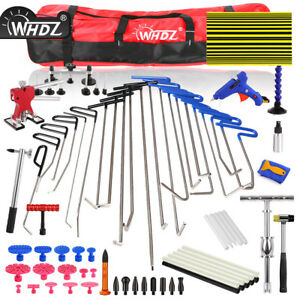 Whdz Paintless Dent Repair Tool Push Rods Hail Puller Lifter Hammer Tail Kit Us