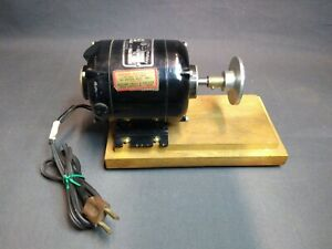 Bodine Nse 12 High Speed Motor Re Purposed For Jewelry Polishing 90vdc 1 12 Hp
