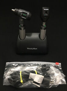 Welch Allyn Ni cad Desk Charger Otoscope Ophthalmoscope Medical Set
