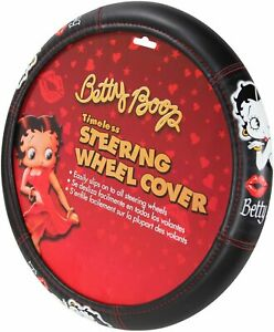 Betty Boop Timeless Steering Wheel Cover Plasticolor