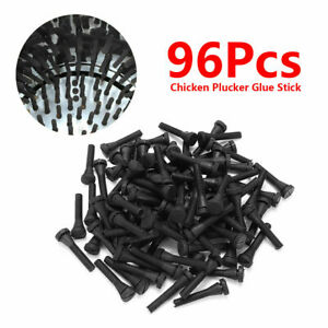 96pcs Chicken Plucker Picker Fingers Feather Remover Rubber For Quail Duck Black