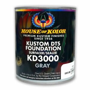House Of Kolor Kd3000 Kustom Dts Gray Primer Surfacer sealer 1 Quart