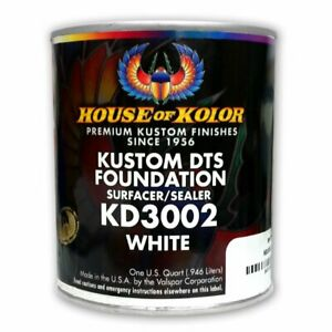House Of Kolor Kd3002 Kustom Dts White Primer Surfacer sealer 1 Quart