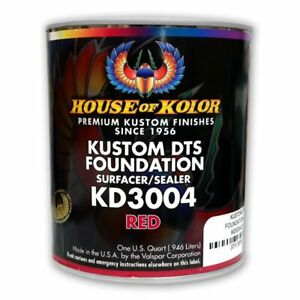 House Of Kolor Kd3004 Kustom Dts Red Primer Surfacer sealer 1 Quart