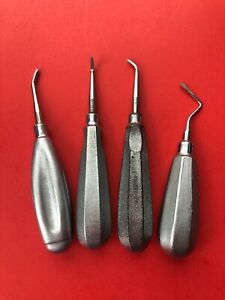 Hu friedy Set 0f 4 Dental Elevators Oral Surgery dentistry