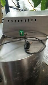 55 Gallon Stainless Steel Mixing Tank With Agitator Bottom Drain On Casters Lid