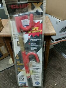 The Club Lx Anti Theft Device Steering Wheel Lock Model 1100 Red Brand New