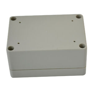 100 68 50mm Waterproof Cover White Plastic Electronic Project Box Enclosure Case