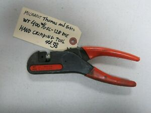 Thomas Betts Microdot Wt400 Ratchet Hand Crimp Tool W Gsc 128 Die Set 38
