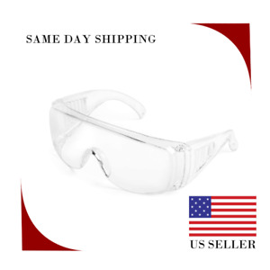 Safety Goggles Over Glasses eye Protection Anti Fog Len Clear Len Free Shipping
