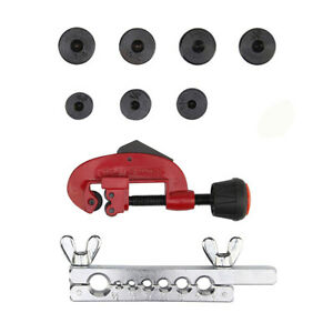 7 Dies Single Or Double Flares Flaring Brake Line Tool With Mini Pipe Cutter