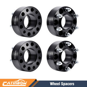 4x 2 6lug Hubcentric Black Wheel Spacers Adapters 6x135 For Ford F 150 Lincoln